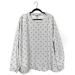 H&M - Over Sized Polka Dot Cozy Sweat Shirt EUC